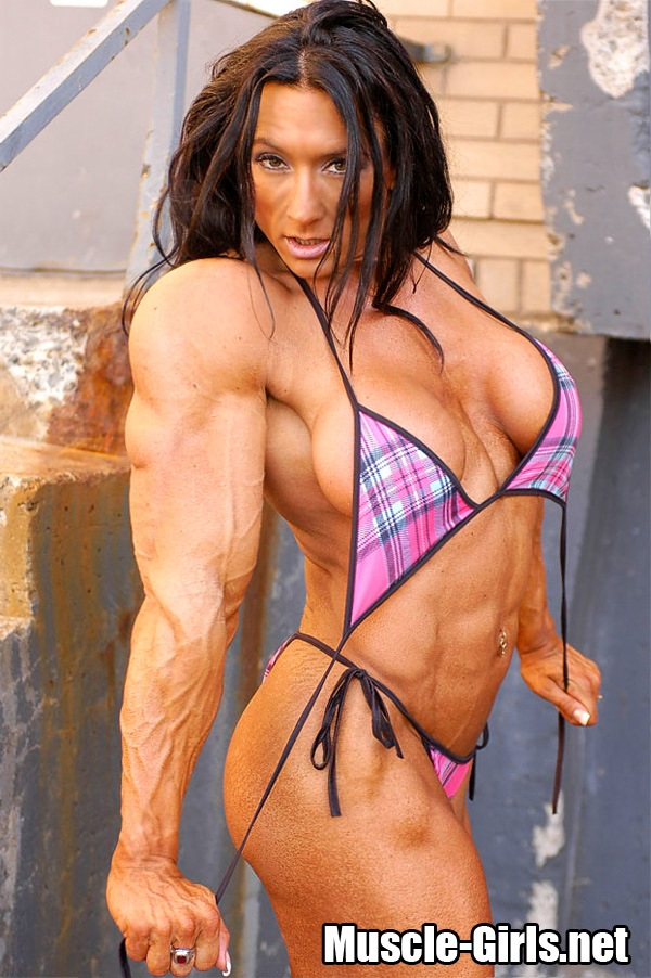 Muscular female bodybuilder lisa cross topless video