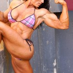 Huge muscular Canadian Female Bodybuilder Autumn Raby from wonderful katie morgan