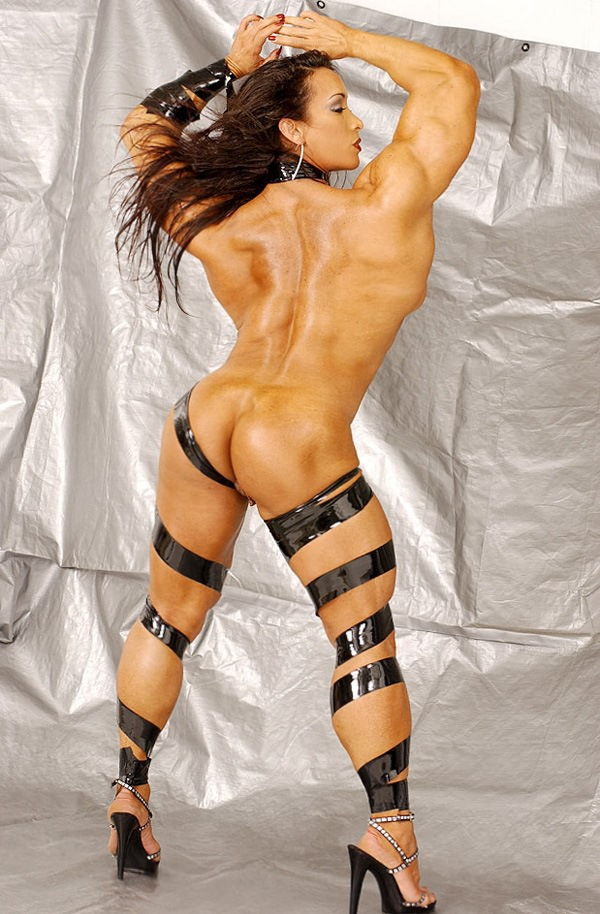 Sexy ripped female bodybuilder shows off awesome body 6