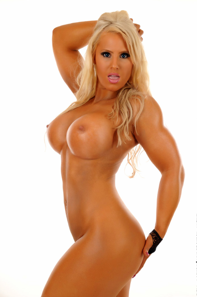 Hot blonde fitness model nude
