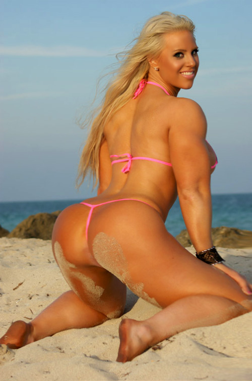 Beach girl naked muscle