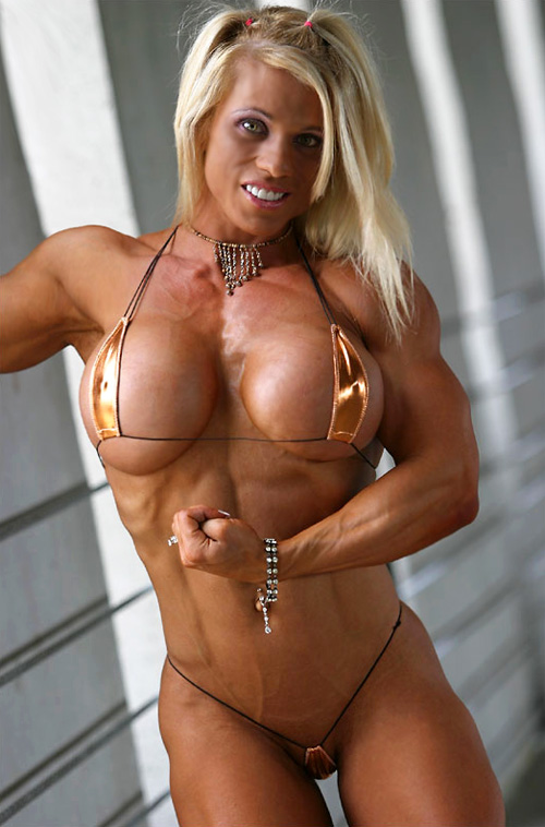 Busty Blonde Lesbian Strap