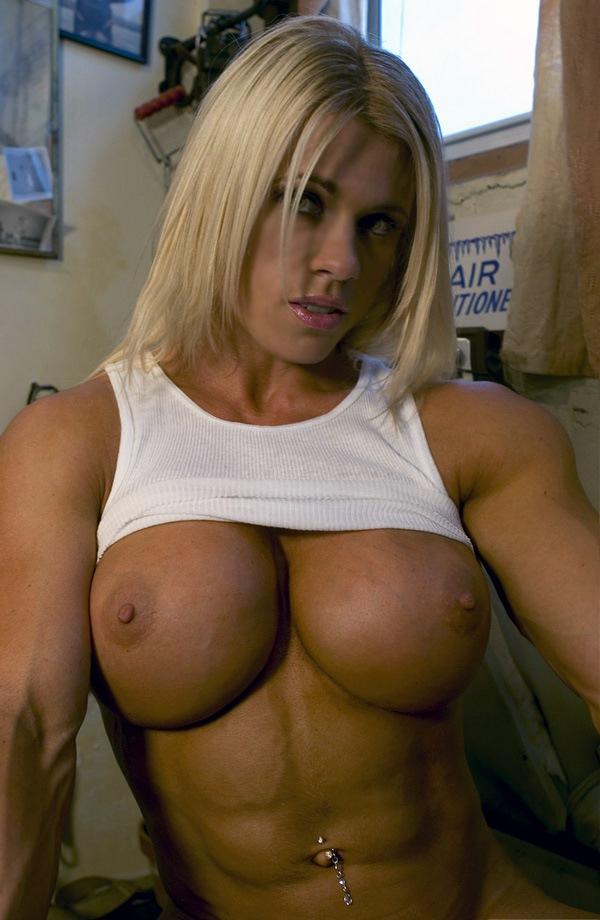 bodybuilder female Sexy blonde