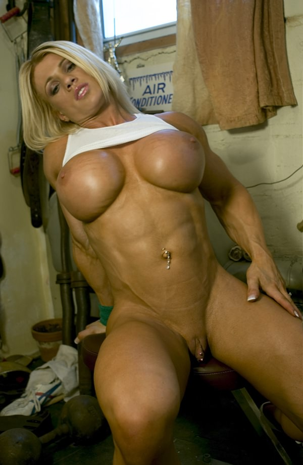 body builder busty female