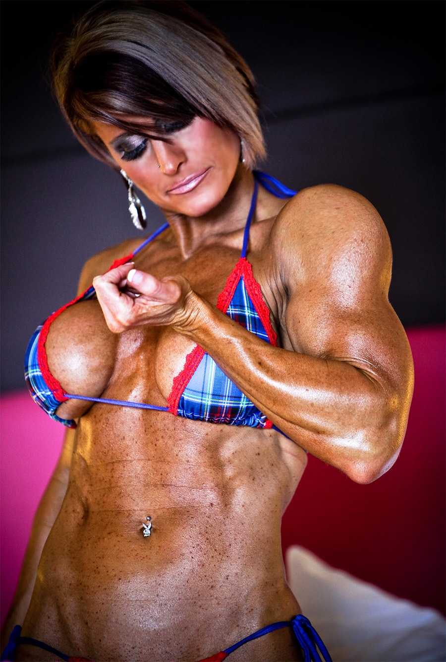 Sey Babe With Big Boobs And Fitness Rock Hard Muscles Very