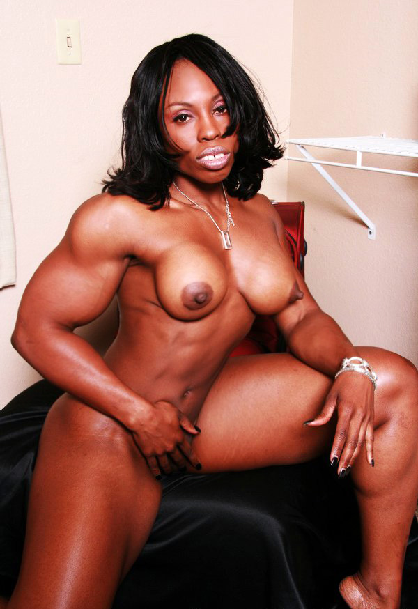 Black nude tall lady