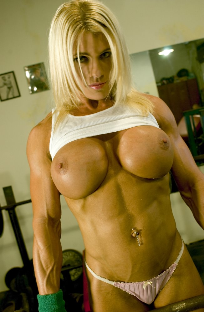 Gorgeous Muscular Blonde Babe With Big Boobs  Muscle Girls-1268