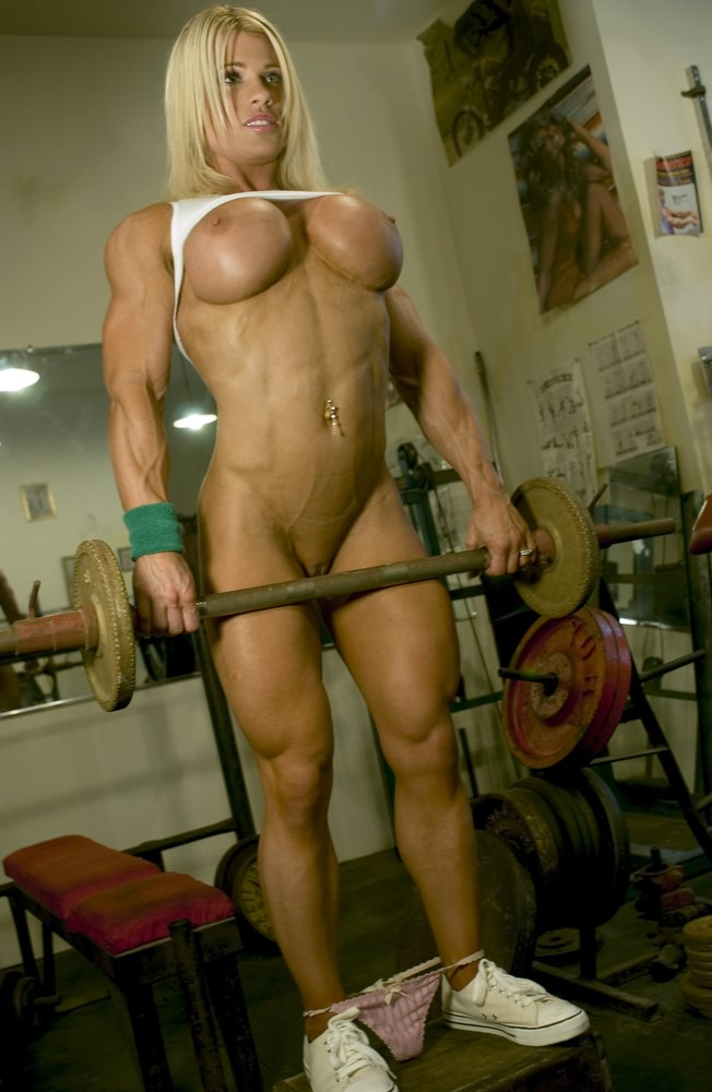 from Trey hot blonde muscle babe