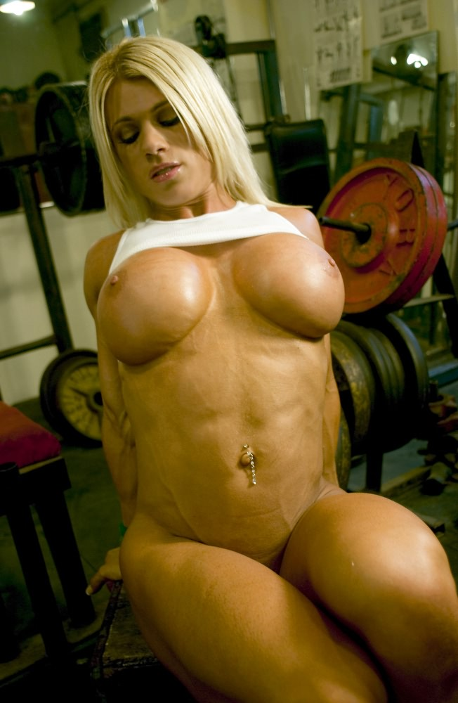 Talented fitness women with big breasts not pay