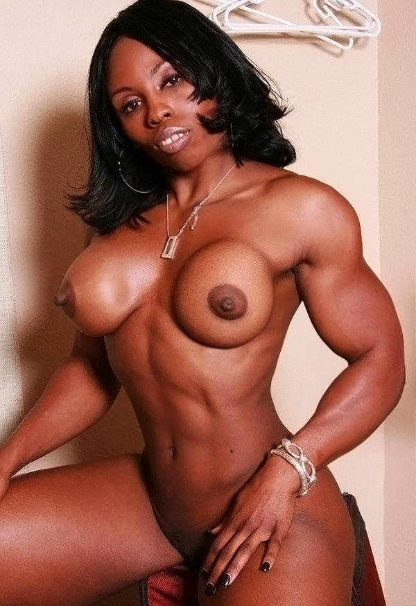 Black Muscle Mistress Shows Off Her Perfectly Built Physique