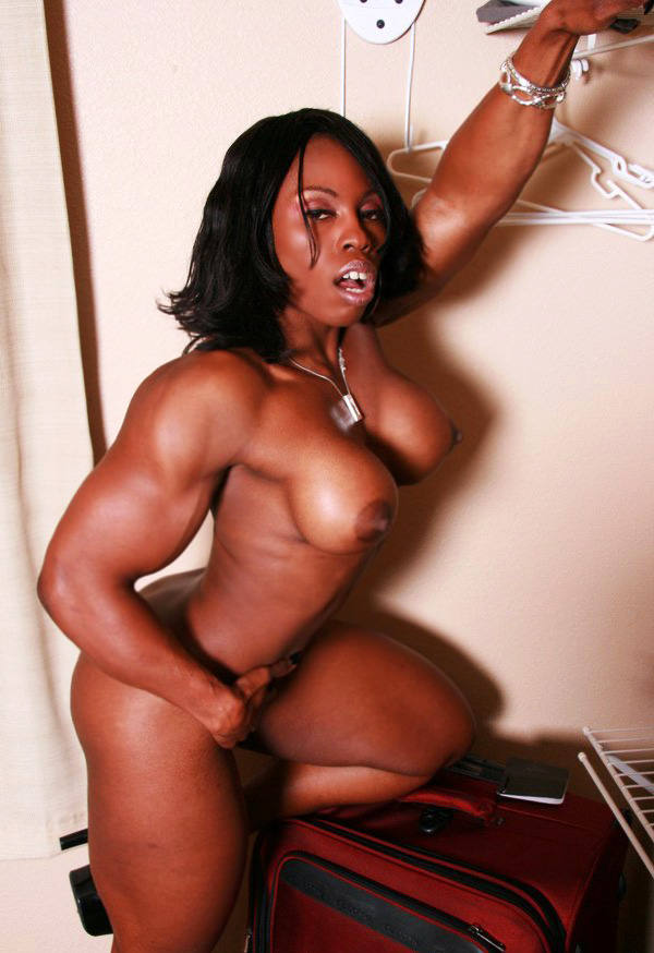 Ebony muscle women