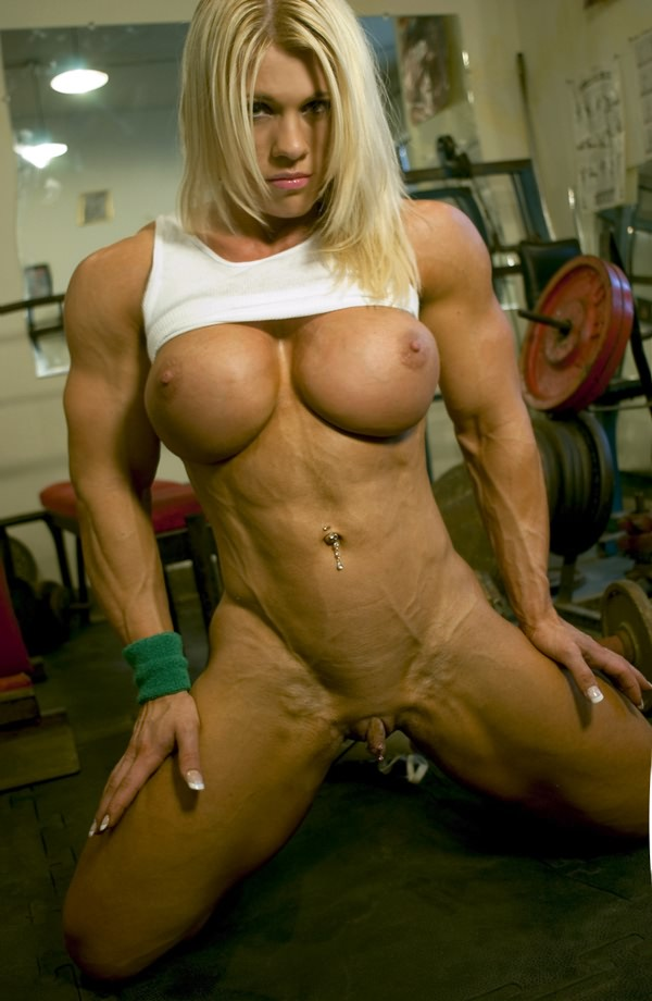 Incredible Sexy Busty Blonde With Huge Ripped Muscles  Muscle Girls-8773