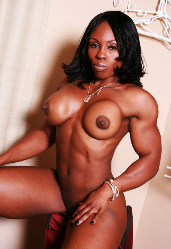 Black Muscle Mistress Shows Off Her Perfectly Built Physique  Muscle Girls-1902