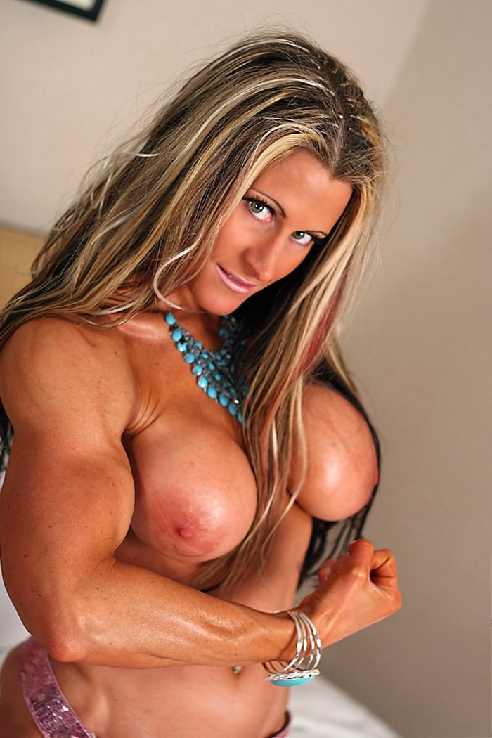 Hot tan blonde big tits girl nude
