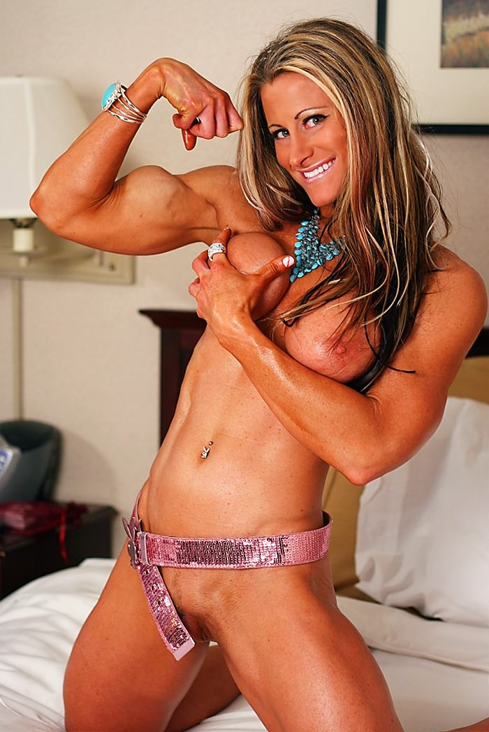 Beauty and nude muscle girl something