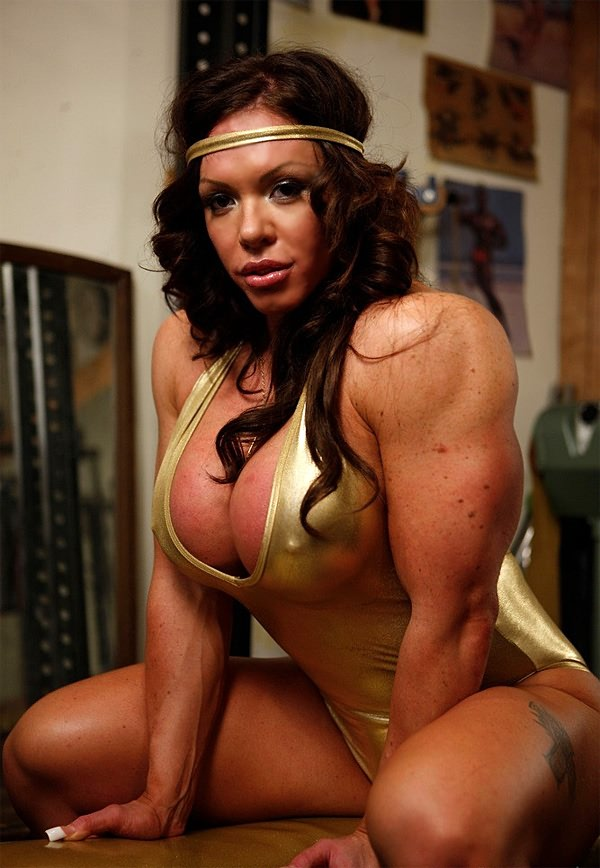 Horny female body builder