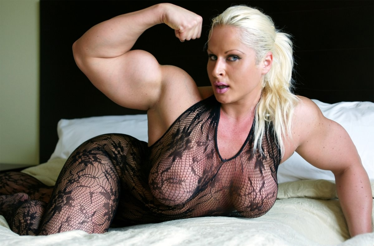 girl with huge tits and big biceps video