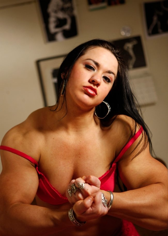 gorgeous young muscle girl shows off her sexy muscles from wonderful