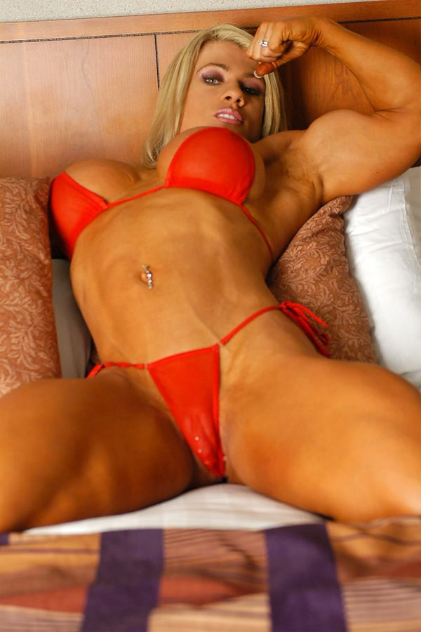 Sexy body builder woman picture quite can