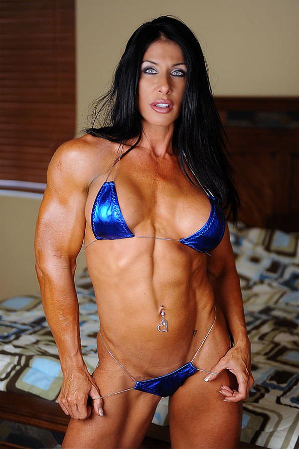 Beautiful fitness women posing in bikini