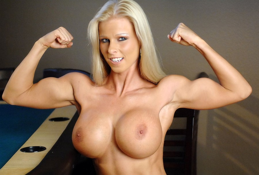 Big muscle tits