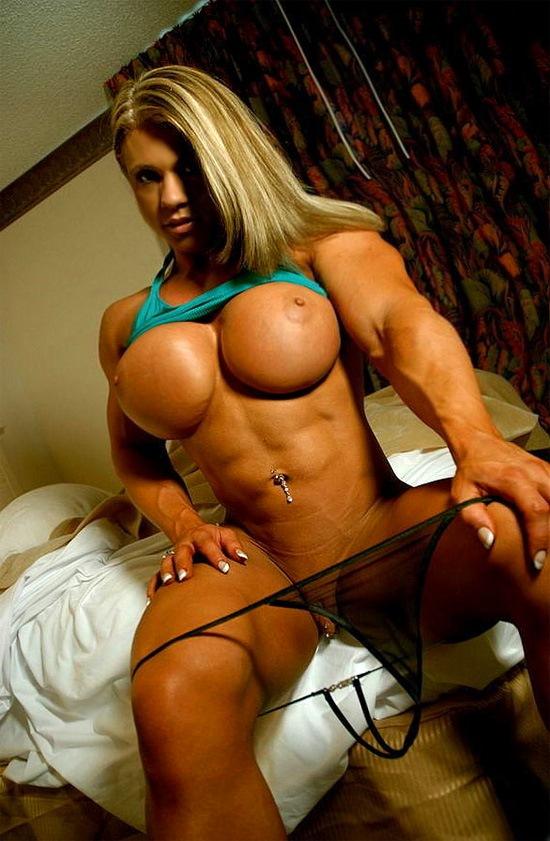 Muscle girl strip
