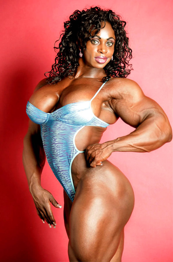 Massive Black Muscular Goddess With Big Boobs  Muscle Girls-5294