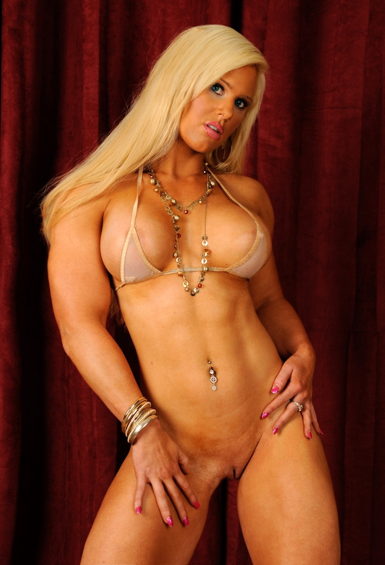 Anibutler Nude sexy and muscular fitness model bikini strip tease   muscle