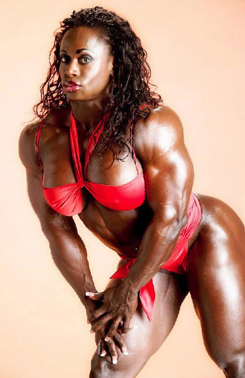 Lovers having hot black muscular babes anorexic