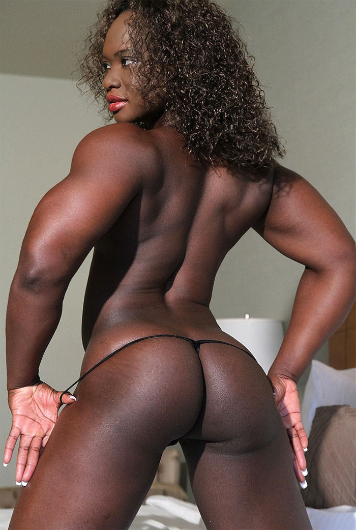 Fit ebony women
