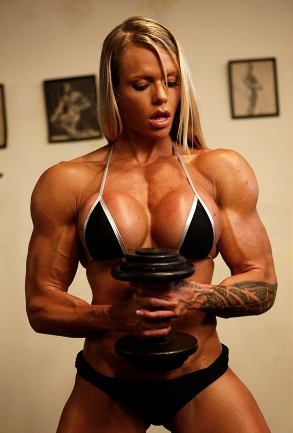 busty muscle girl