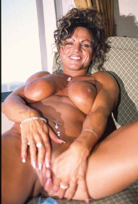 sexy busty muscular babe strip tease muscle girls