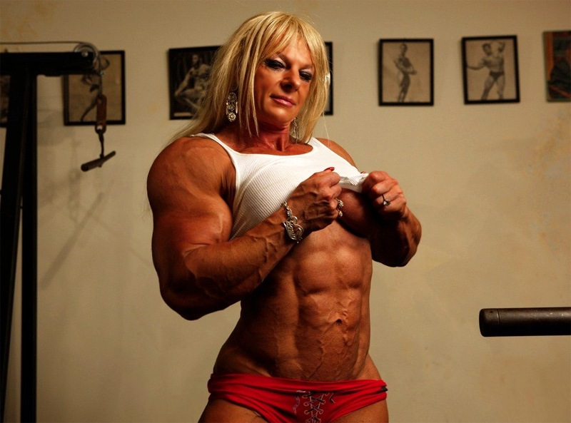 Truly Huge Female Monster Bodybuilder Massive Femdom Muscles