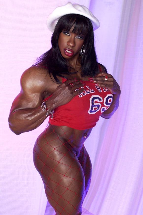 Nude black female muscle mistress