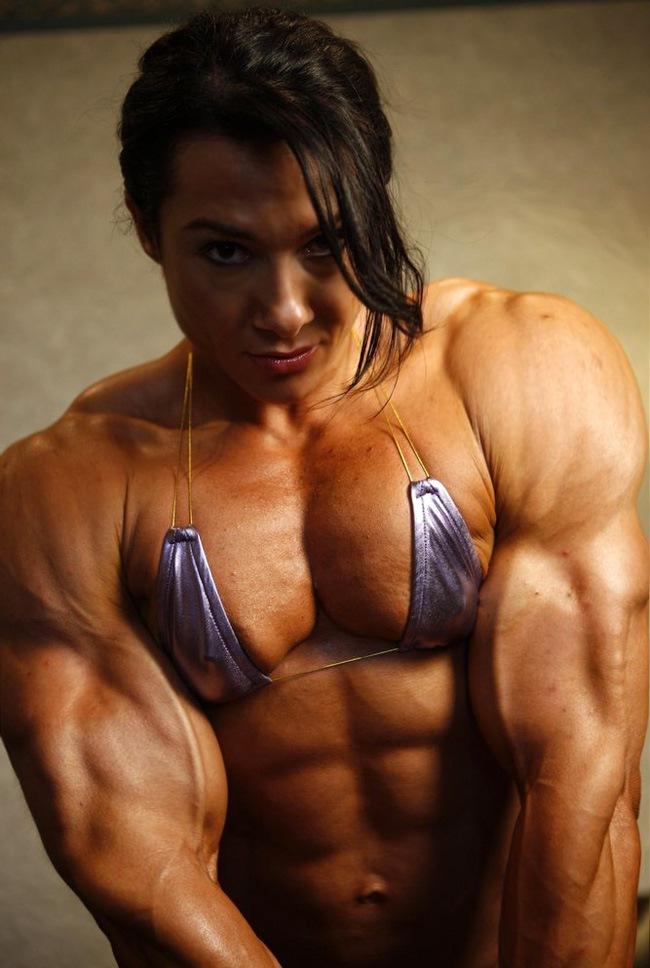 Big muscular women