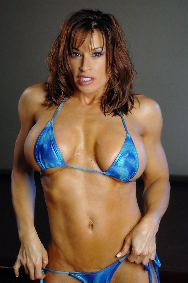 Very Hot Fitness Goddess Posing Sexy In Bikini  Muscle Girls-6825