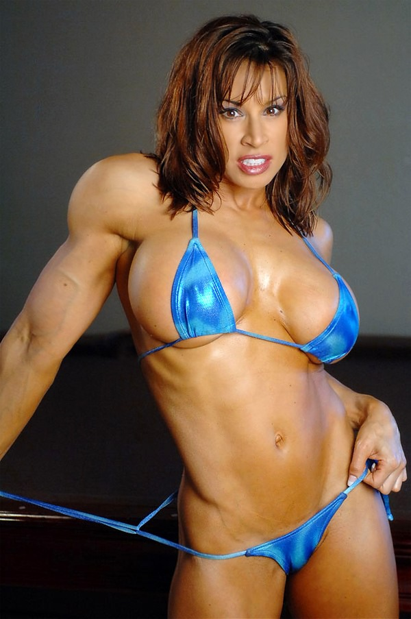Very Hot Fitness Goddess Posing Sexy In Bikini  Muscle Girls-5839