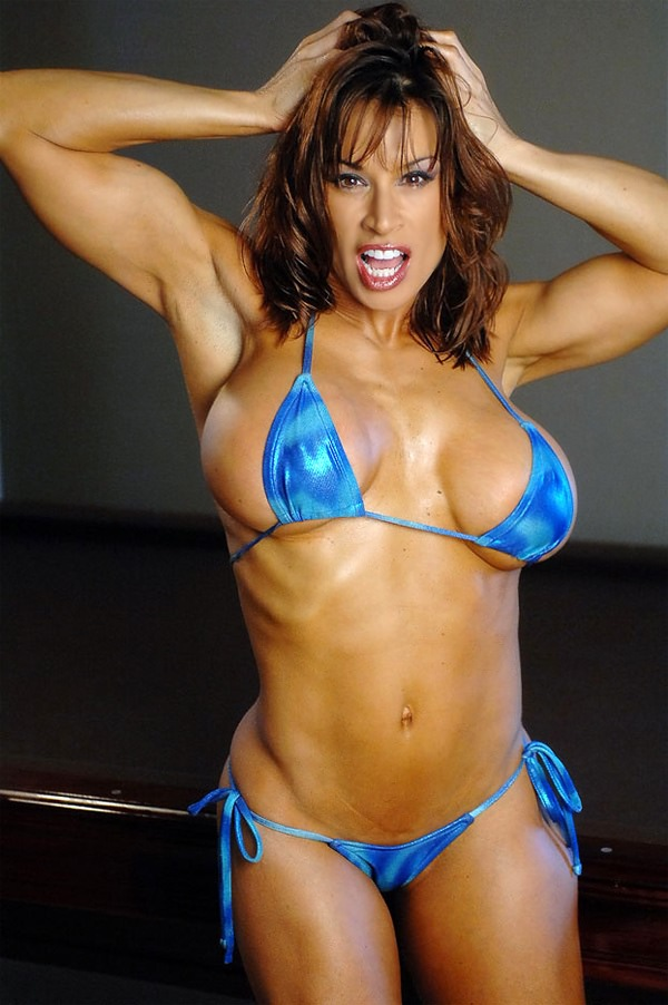 Very Hot Fitness Goddess Posing Sexy In Bikini  Muscle Girls-7055