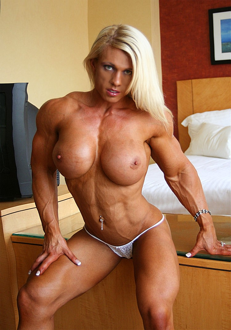 Nude body builder woman