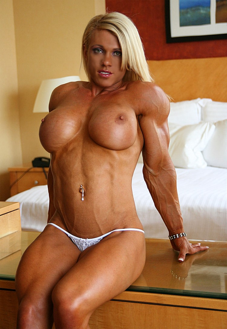 from Dorian busty blonde muscle naked
