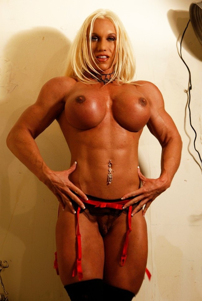 Very Sey And Busty Blonde Mistress With Big Strong Muscles