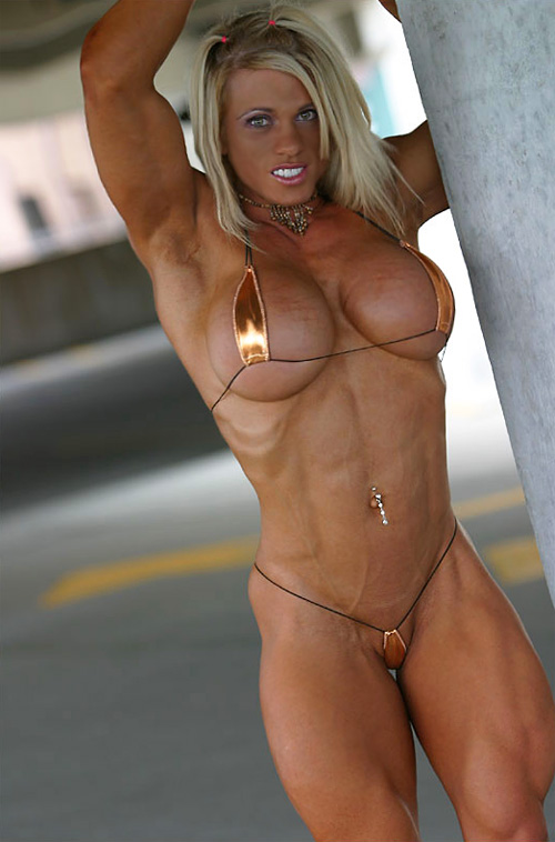 Sexy Blonde Goddess With Strong Shredded Muscles And Huge Boobs  Muscle Girls-4250