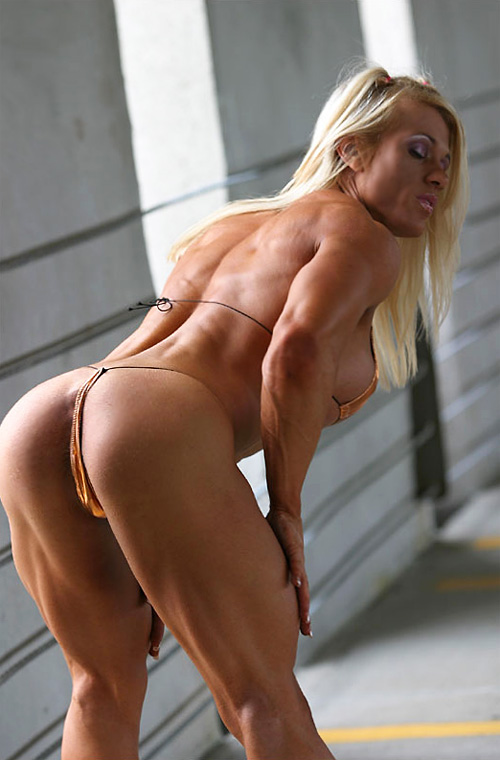 Sexy Blonde Goddess With Strong Shredded Muscles And Huge Boobs  Muscle Girls-8293