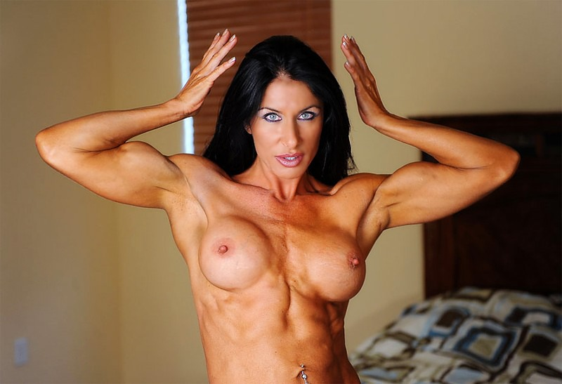 Beautiful Fitness Goddess Topless Posing  Muscle Girls-3644
