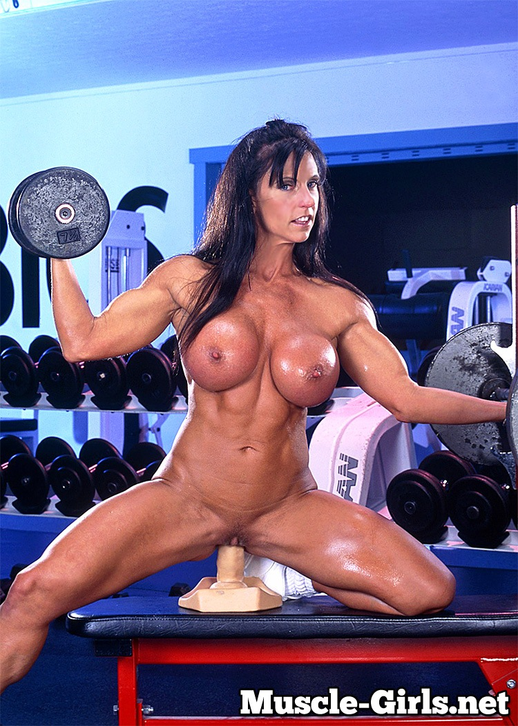 Busty Mature Muscle Woman Gym Workout  Muscle Girls-9013