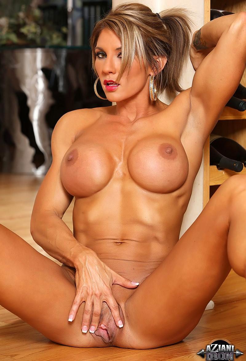 Beautiful blonde striptease and masturbating compilation